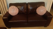 2 Three Seater Leather Bonded Couches
