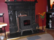 Cast Iron Stove and Fire Surround with Hearth